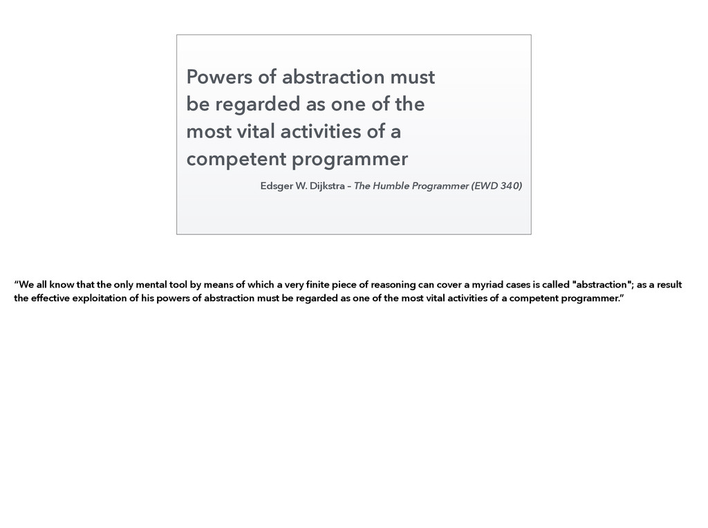 Powers of abstraction must be regarded as one o...