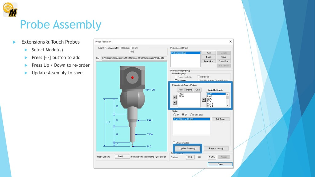 Probe Assembly  Extensions & Touch Probes  Se...