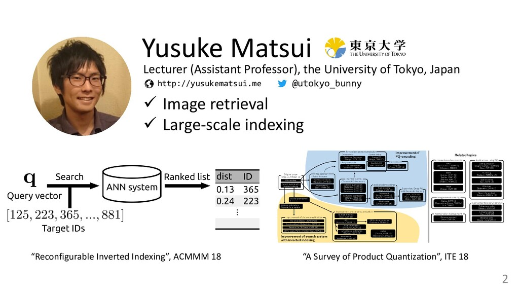 2 Yusuke Matsui ✓ Image retrieval ✓ Large-scale...