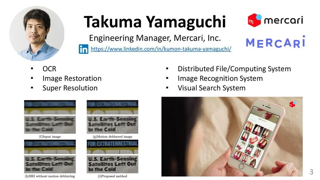 3 Takuma Yamaguchi Engineering Manager, Mercari...
