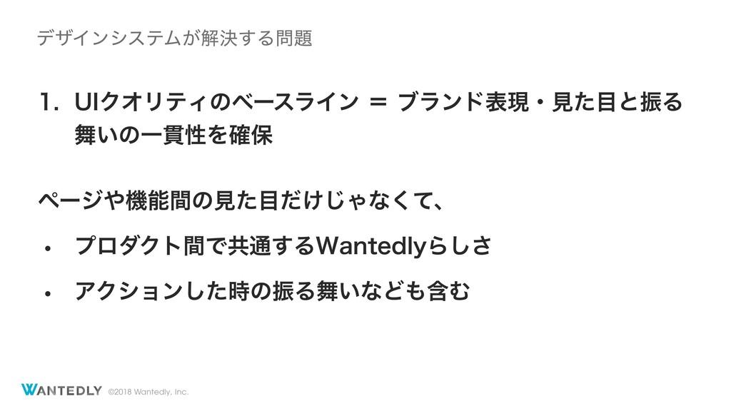 ©2018 Wantedly, Inc.  6*ΫΦϦςΟͷϕʔεϥΠϯʹϒϥϯυදݱ...