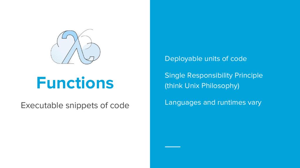 Deployable units of code Single Responsibility ...