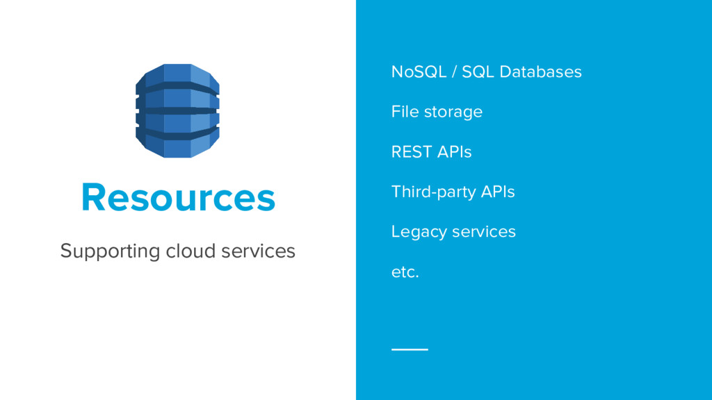 NoSQL / SQL Databases File storage REST APIs Th...