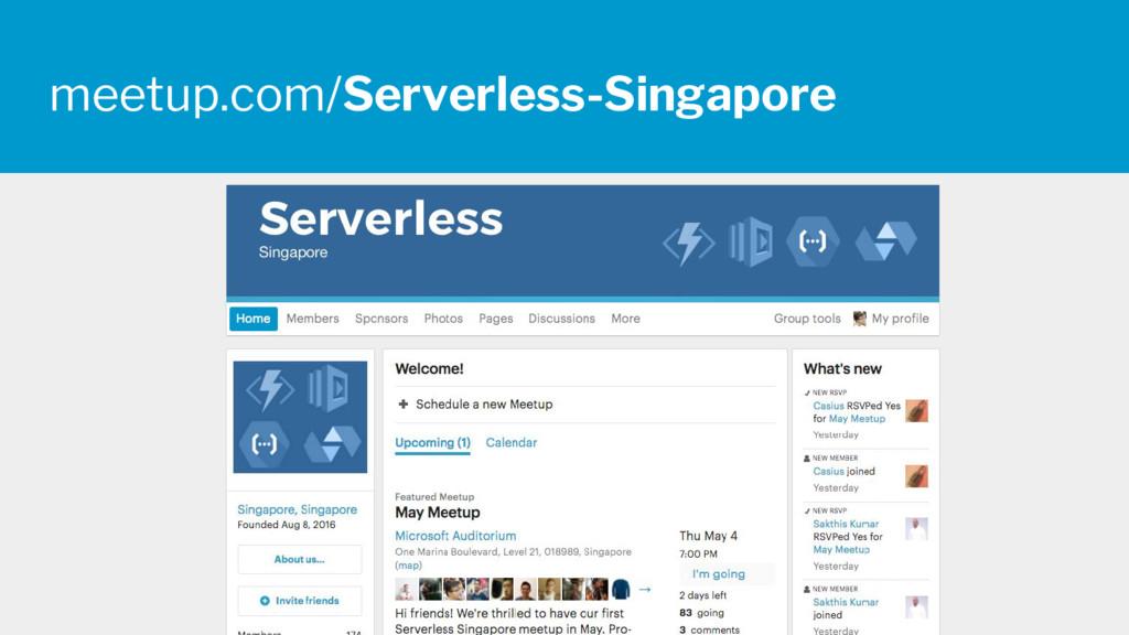 meetup.com/Serverless-Singapore
