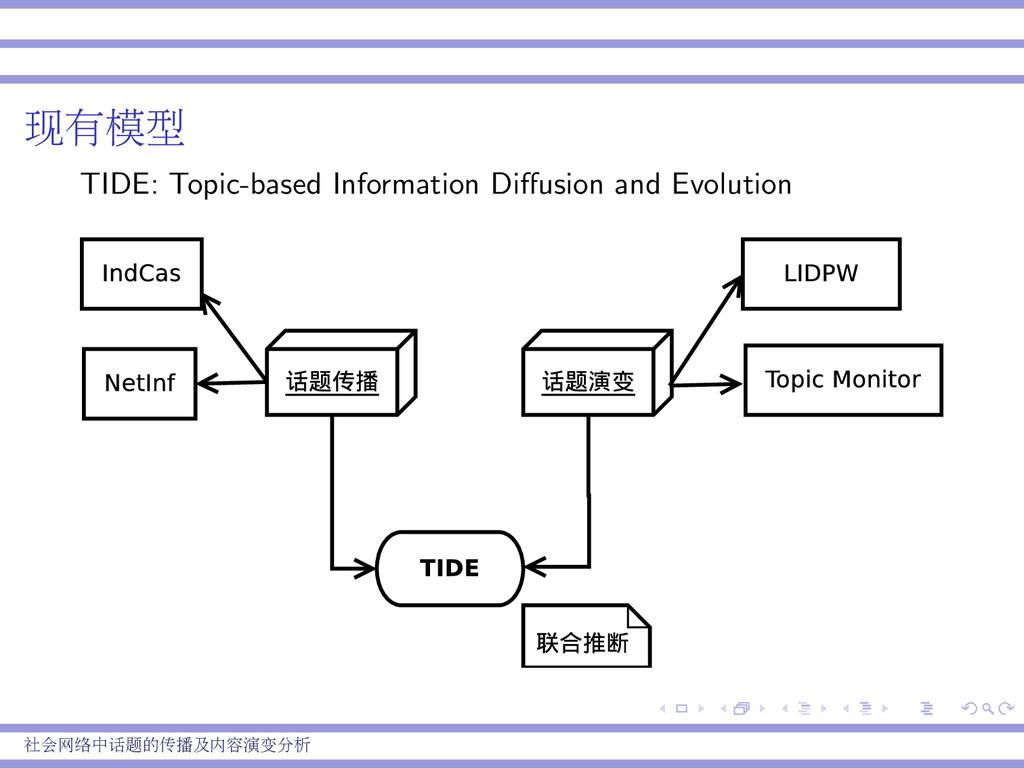 现有模型 TIDE: Topic-based Information Diffusion and...