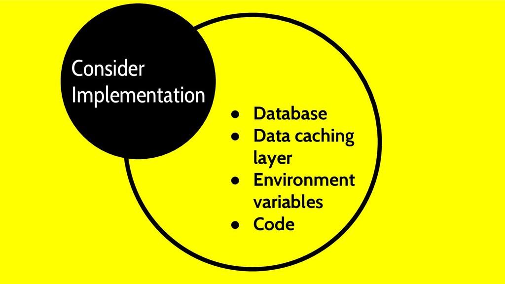 ● Database ● Data caching layer ● Environment v...