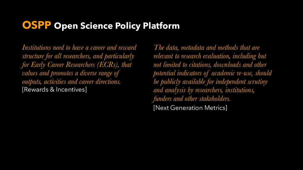 OSPP Open Science Policy Platform Institutions ...
