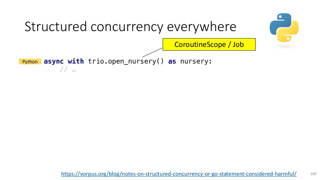 Structured concurrency everywhere 109 async wit...
