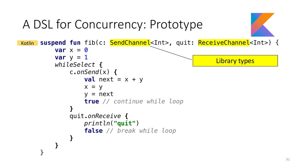 A DSL for Concurrency: Prototype suspend fun fi...