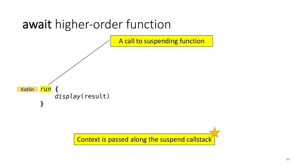 await higher-order function 44 run { display(re...