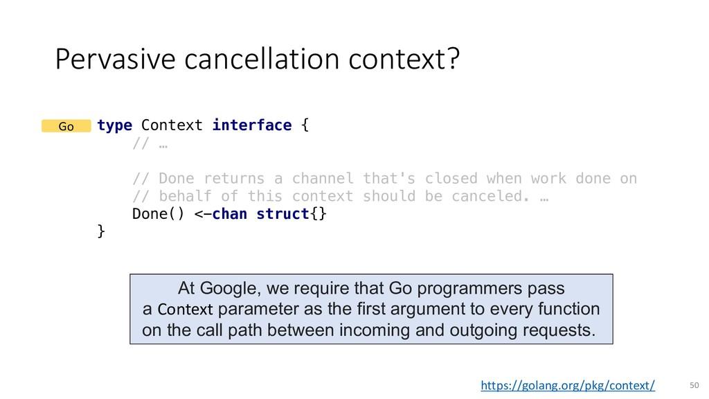 Pervasive cancellation context? 50 type Context...