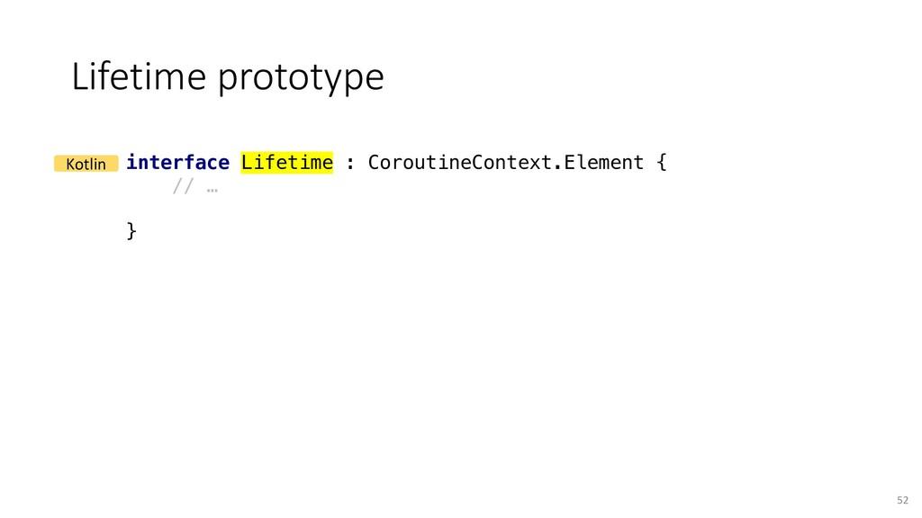 Lifetime prototype 52 interface Lifetime : Coro...