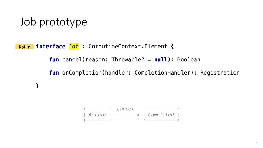 Job prototype 55 interface Job : CoroutineConte...
