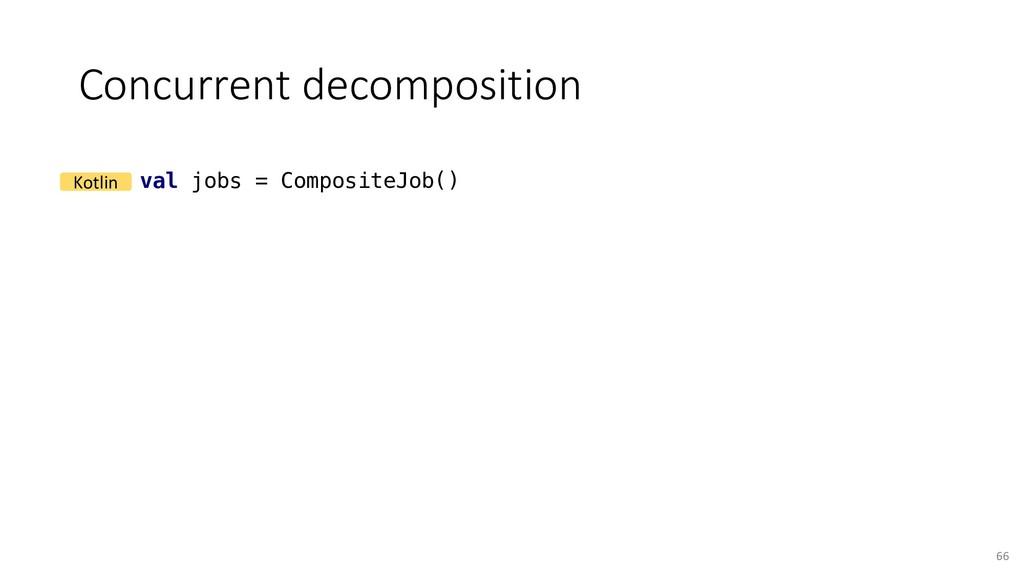 Concurrent decomposition 66 val jobs = Composit...