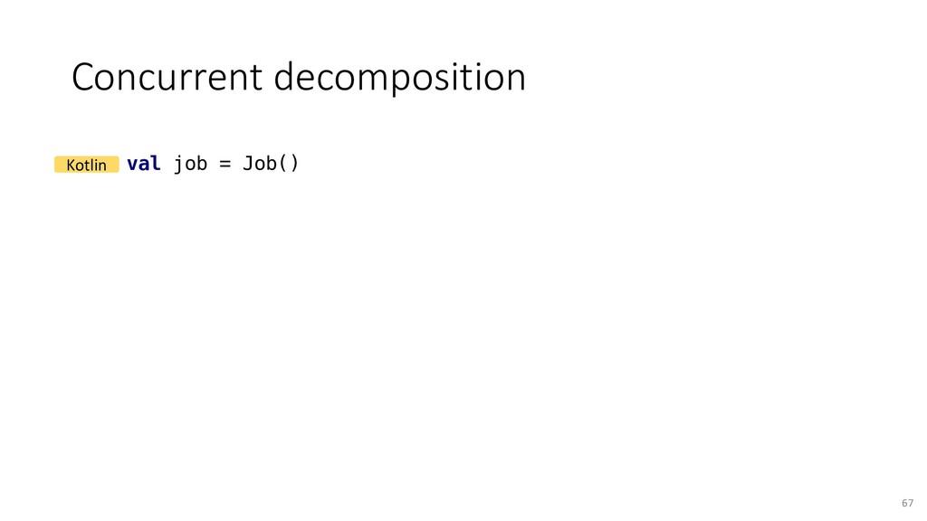 Concurrent decomposition 67 val job = Job() Kot...