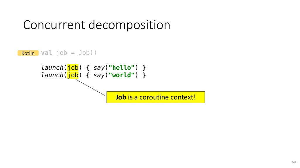 Concurrent decomposition 68 val job = Job() lau...