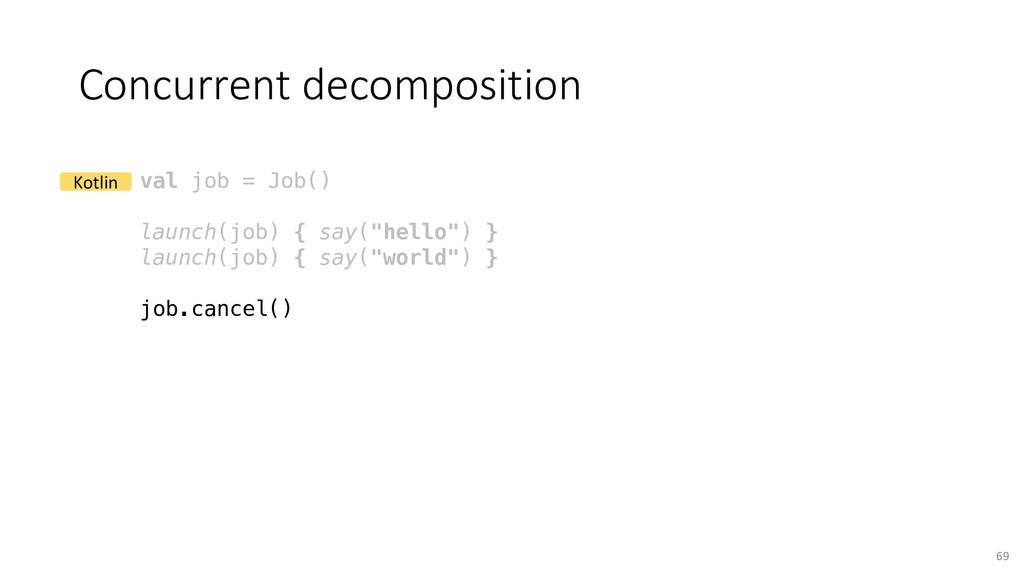 Concurrent decomposition 69 val job = Job() lau...