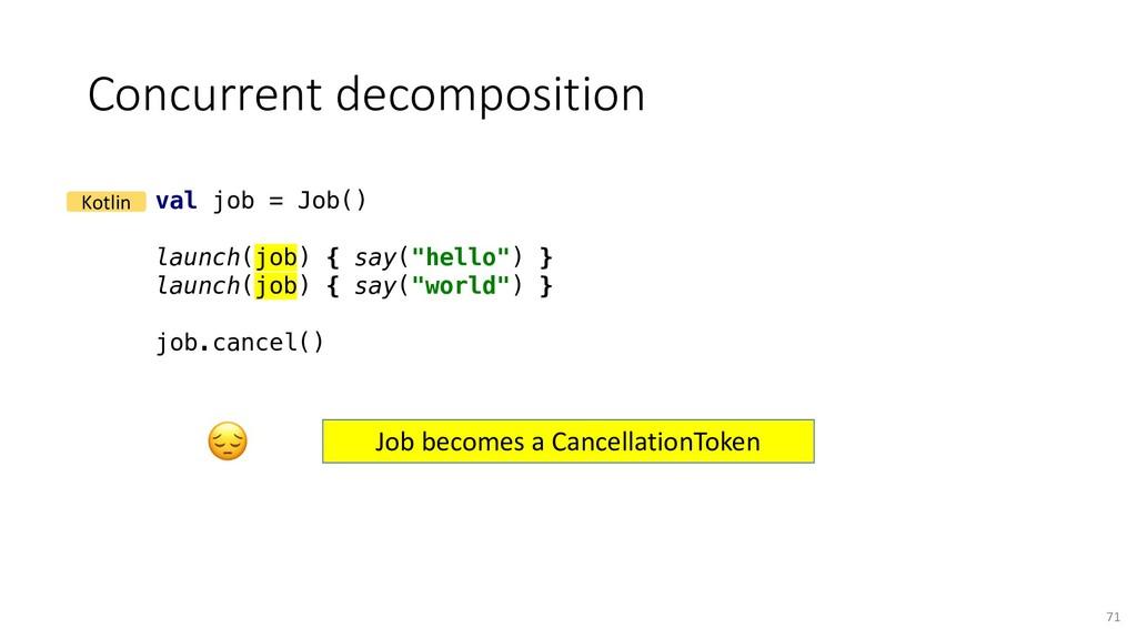 Concurrent decomposition 71 val job = Job() lau...