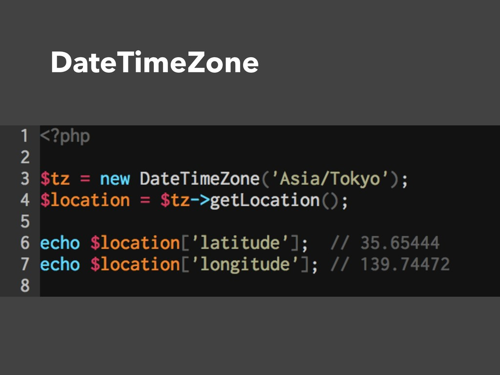 DateTimeZone