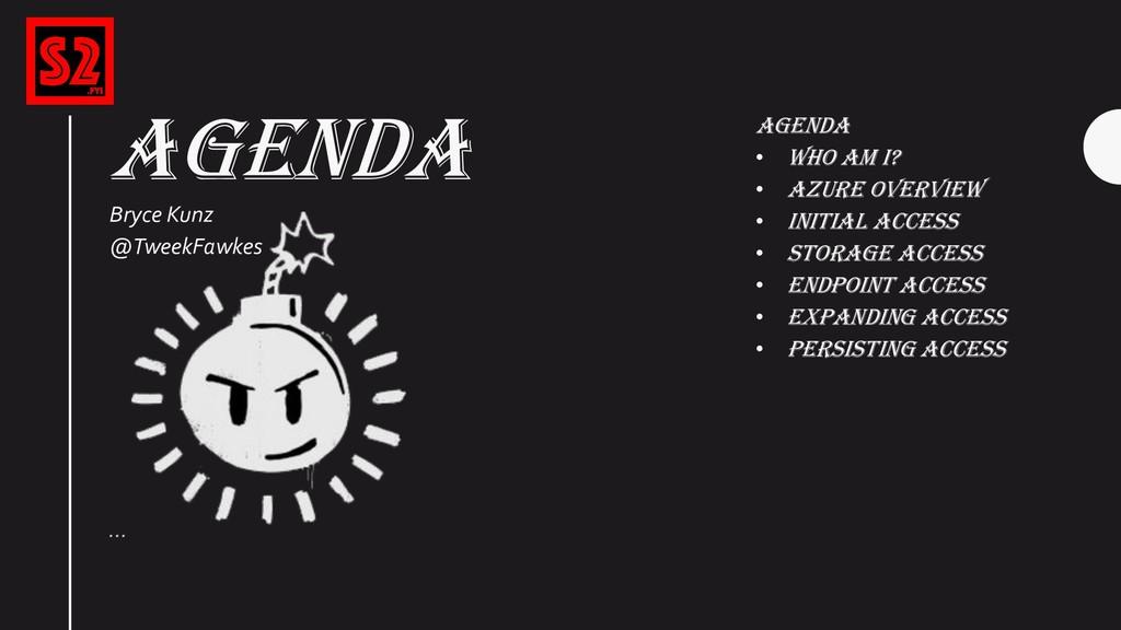 AGENDA … Agenda • Who Am I? • Azure Overview • ...