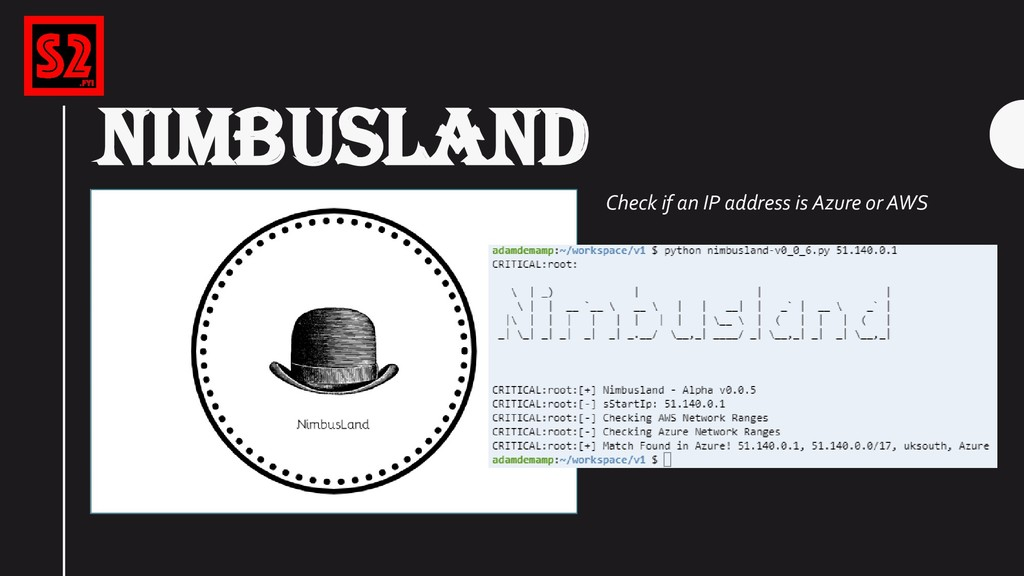 NIMBUSLAND Check if an IP address is Azure or A...