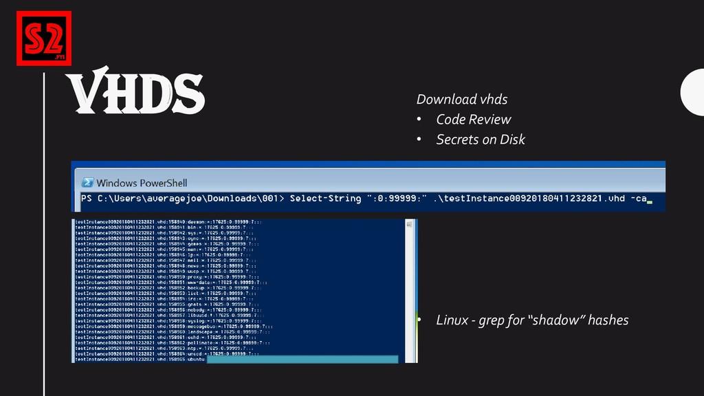 VHDS Download vhds • Code Review • Secrets on D...