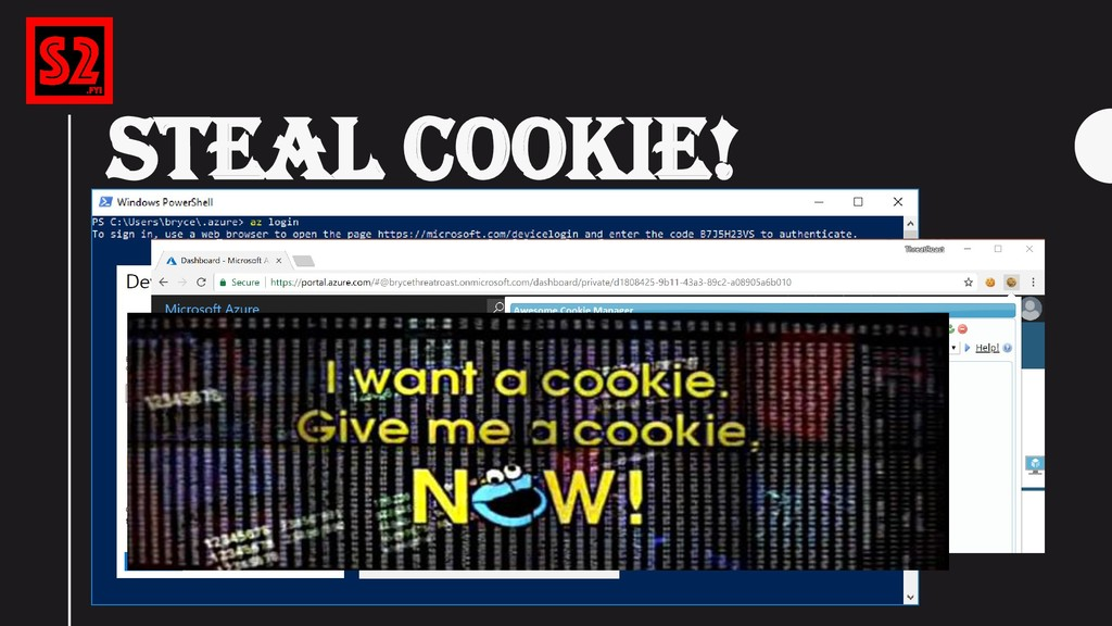 """STEAL COOKIE! """"az login"""" (After logging in, you..."""