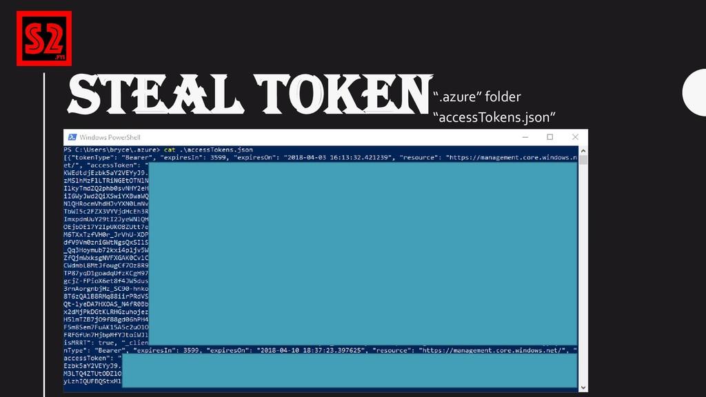 """STEAL TOKEN"""".azure"""" folder """"accessTokens.json"""""""