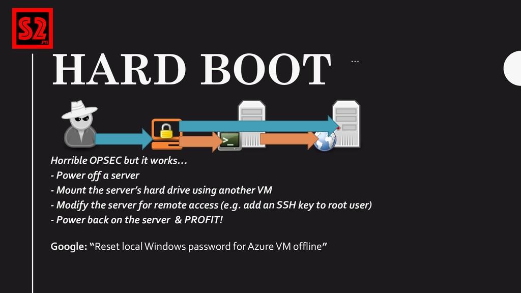 "HARD BOOT Google: ""Reset local Windows password..."