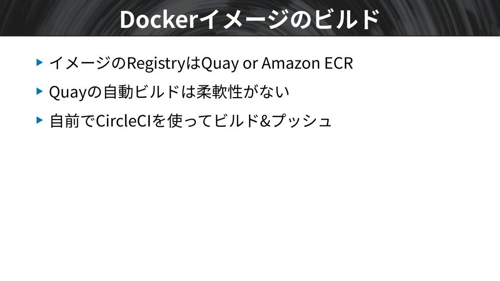 ▶ イメージのRegistryはQuay or Amazon ECR ▶ Quayの⾃動ビルド...