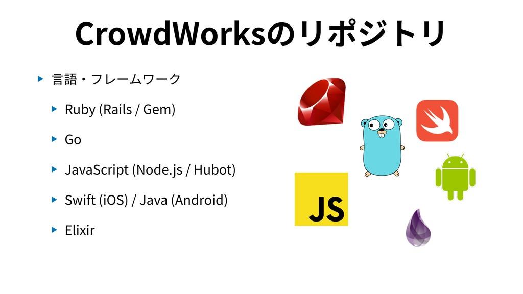 CrowdWorksのリポジトリ ▶ ⾔語・フレームワーク ▶ Ruby (Rails / G...