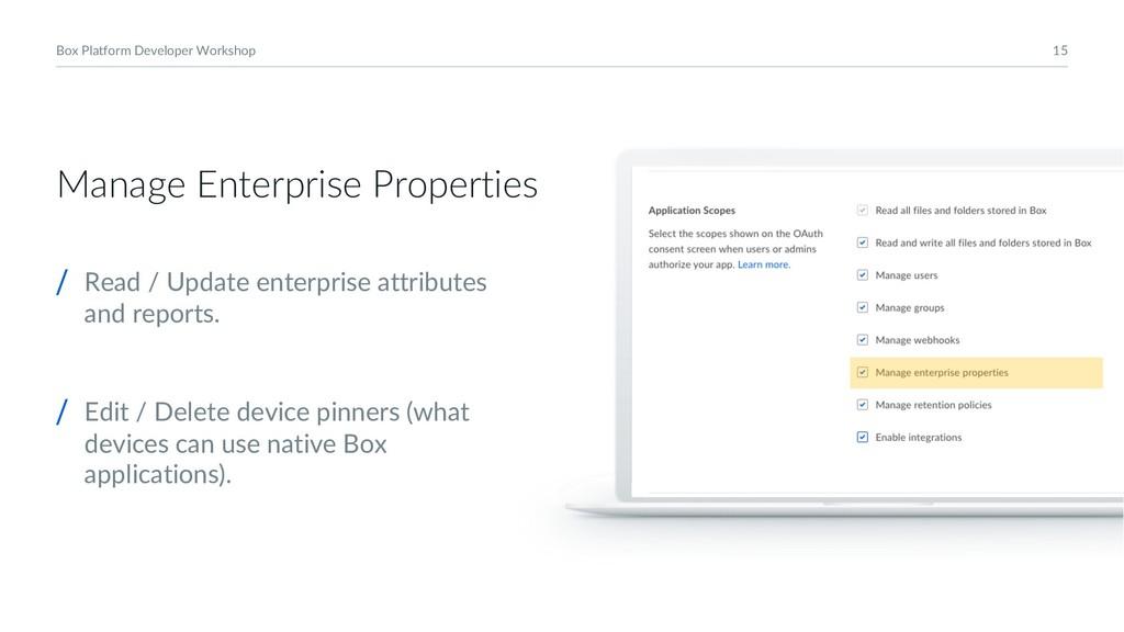 15 Box Platform Developer Workshop Manage Enter...