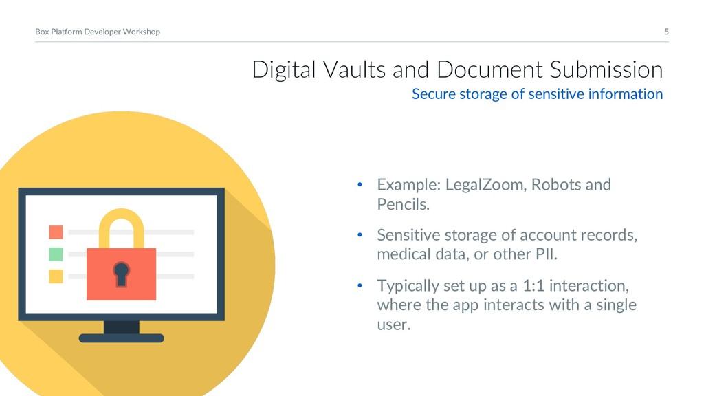 5 Box Platform Developer Workshop Digital Vault...