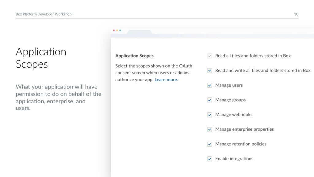10 Box Platform Developer Workshop Application ...
