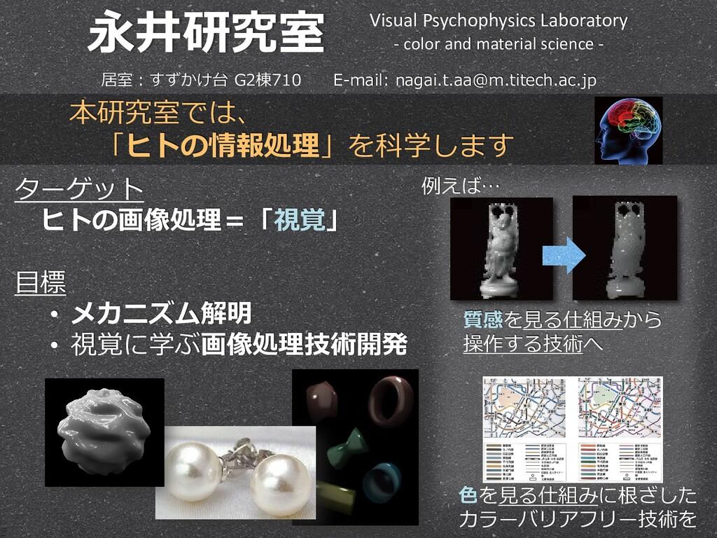 永井研究室 Visual Psychophysics Laboratory - color a...