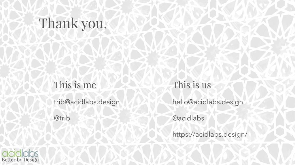 Thank you. This is me trib@acidlabs.design @tri...