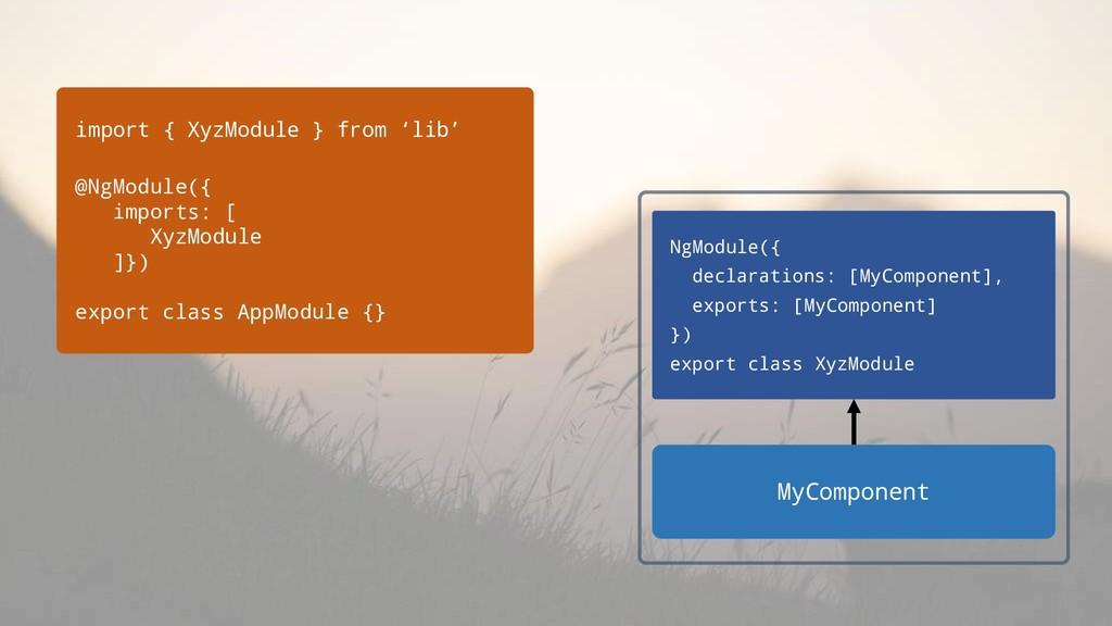 import { XyzModule } from 'lib' @NgModule({ imp...
