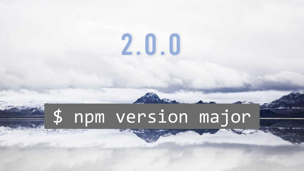 $ npm version major