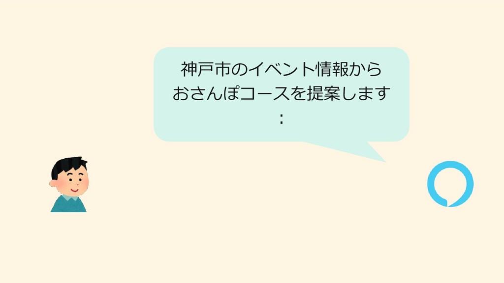 神戸市のイベント情報から おさんぽコースを提案します :