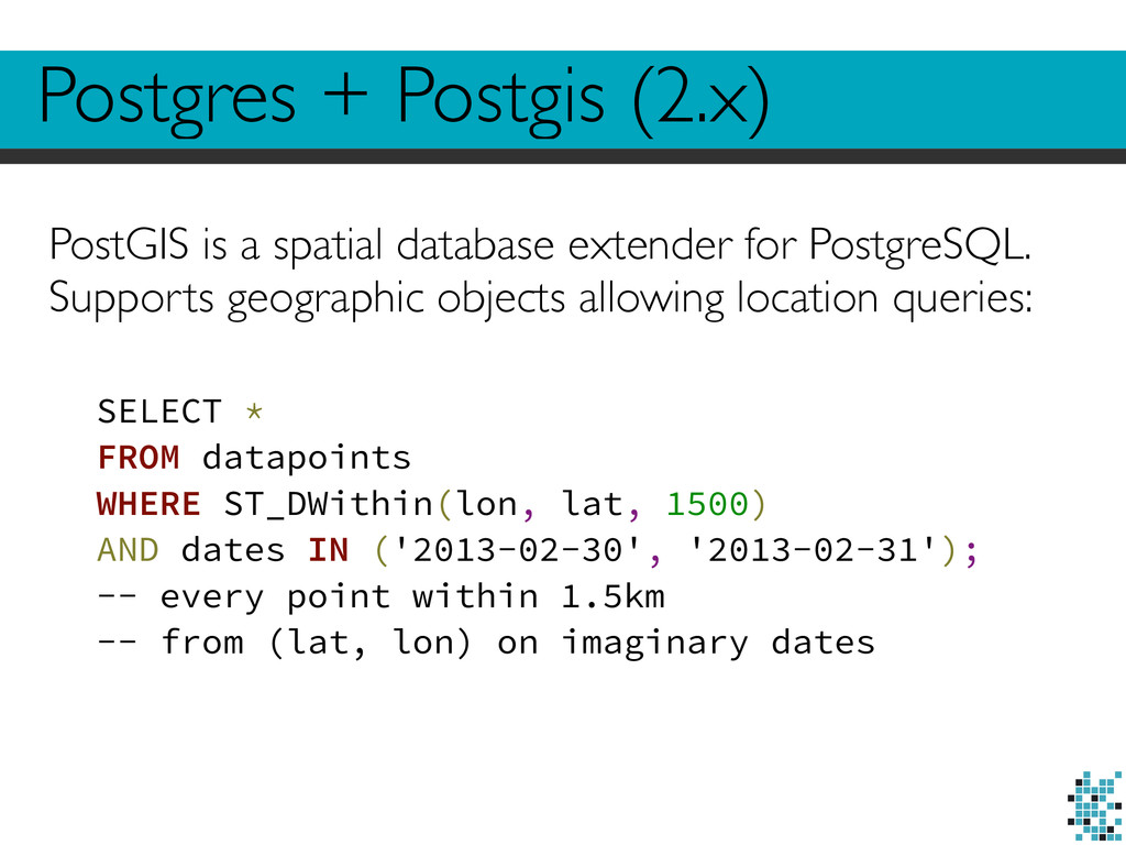 PostGIS is a spatial database extender for Post...