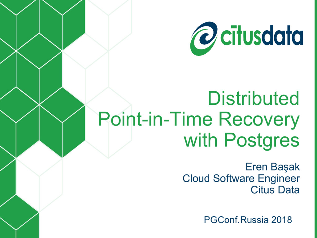Distributed Point-in-Time Recovery with Postgre...