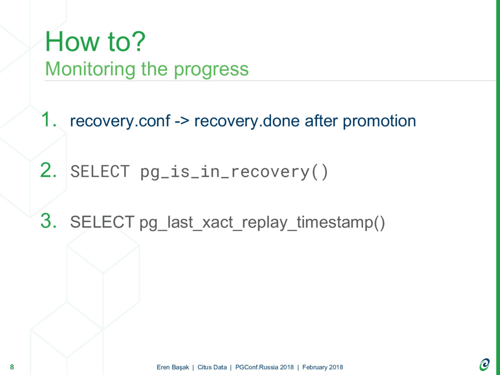 1. recovery.conf -> recovery.done after promoti...
