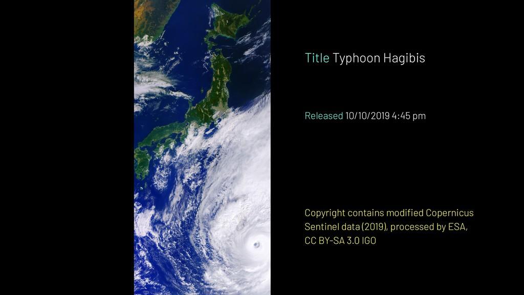 Title Typhoon Hagibis Released 10/10/2019 4:45 ...