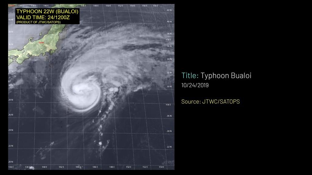 Title: Typhoon Bualoi 10/24/2019 Source: JTWC/S...