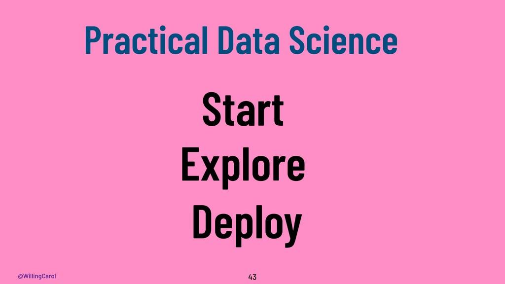 @WillingCarol 43 Start Deploy Explore Practical...