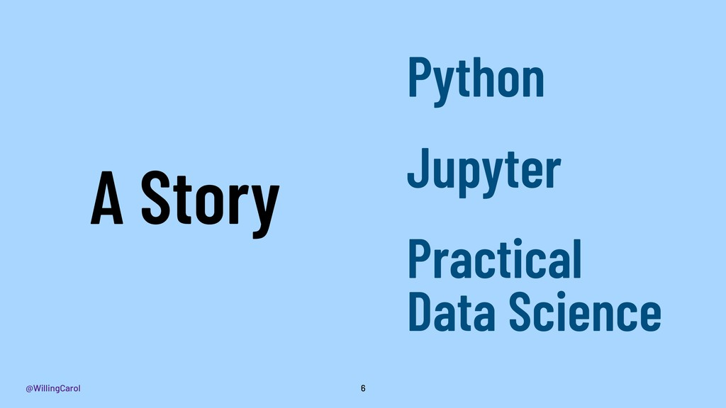 @WillingCarol 6 A Story Python Jupyter Practica...
