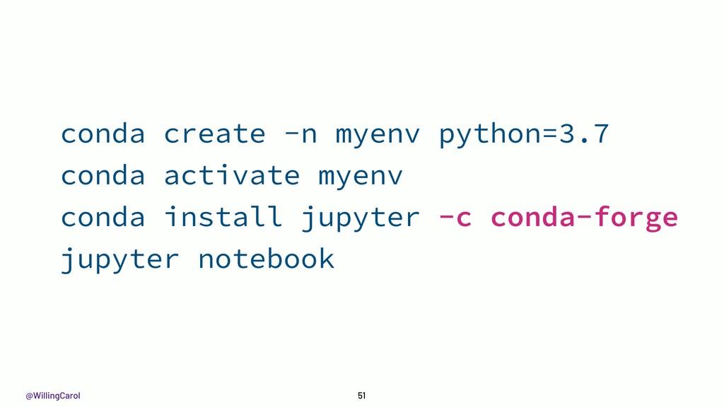 @WillingCarol 51 conda create -n myenv python=3...