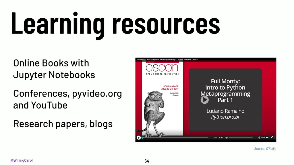 @WillingCarol Learning resources 64 Online Book...