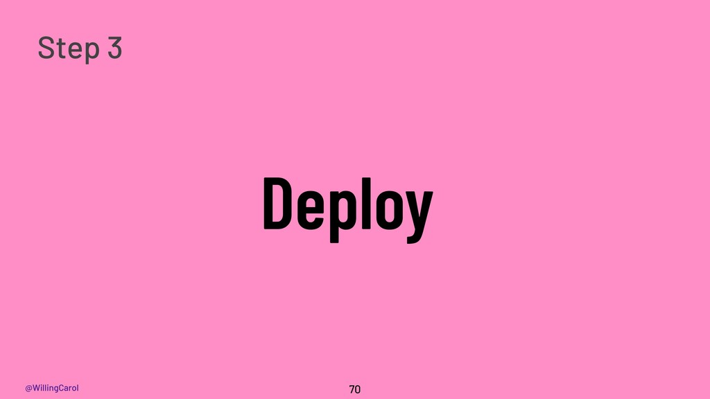 @WillingCarol Deploy 70 Step 3