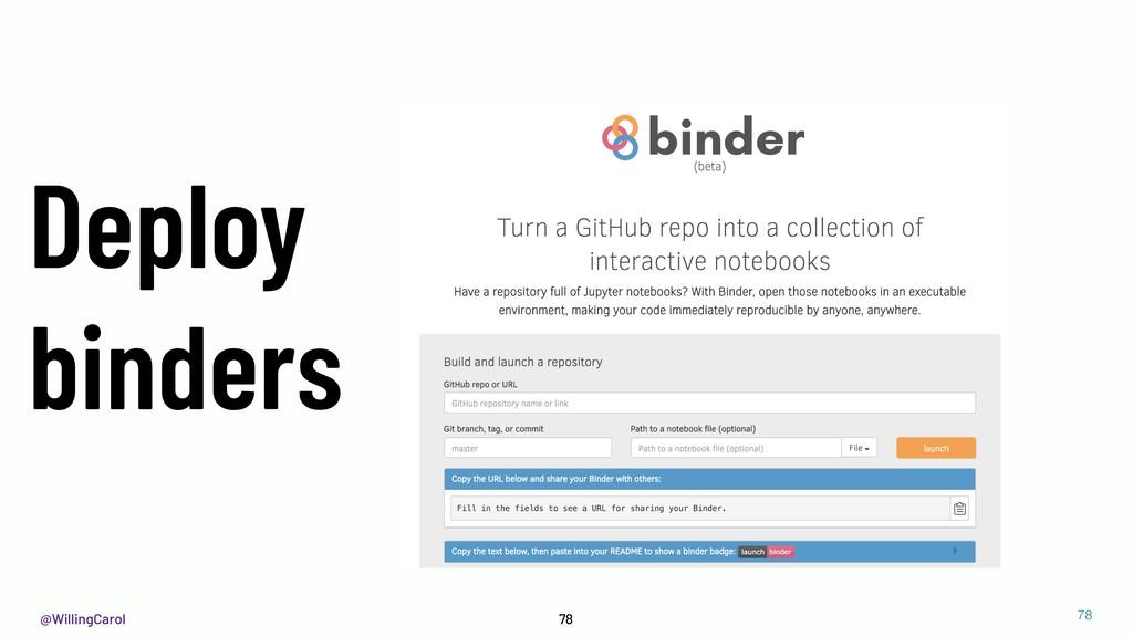 @WillingCarol 78 78 Deploy binders